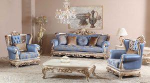 Set Sofa Tamu Mewah Ukir Jepara Koltuk Klasik Terbaru