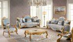 Sofa Tamu Mewah Gold Klasik Ukir Mebel Jepara Terbaru