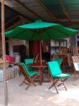 Set Kursi Meja Taman Dengan Payung Jati Jepara