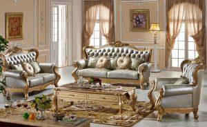Set Kursi Sofa Mewah Ukiran Modern