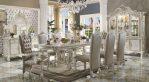 Set Meja Kursi Makan Mewah Cat Putih