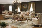 Set Kursi Sofa Mewah Putih Ukiran Jepara
