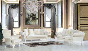 Set Sofa Putih Mewah Modern