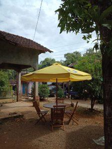Set Kursi Meja Payung Taman Jati