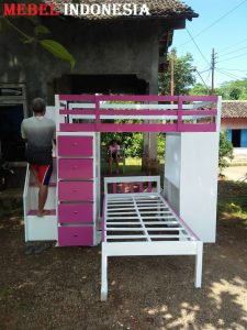 Set Tempat Kamar Tidur Anak Perempuan Laki Minimalis Jati Jepara Terbaru